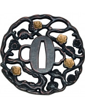 Tsuba parerplade Golden Flower